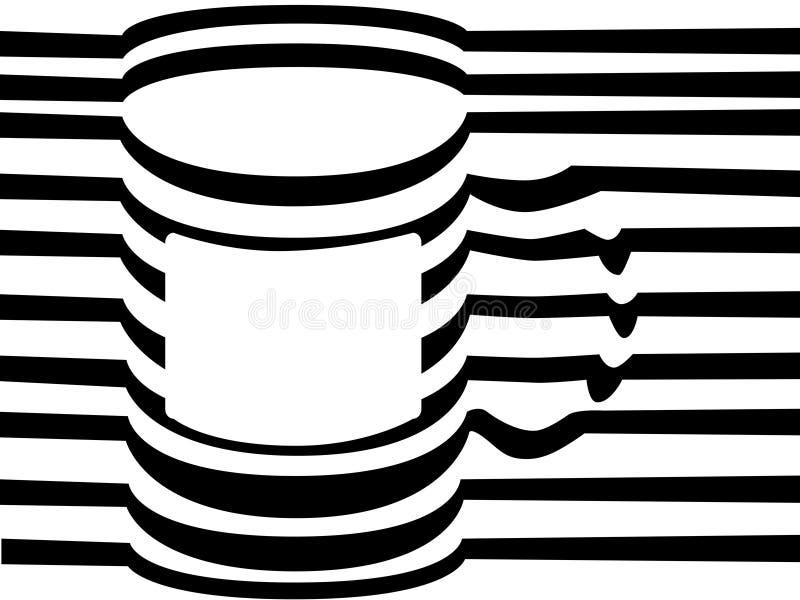 Vectorlijnvorm - Mok stock illustratie