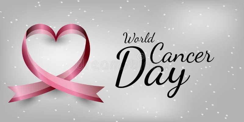 Vectorlint in de vorm van hart De dag van wereldkanker De Dag van Valentine s royalty-vrije stock afbeeldingen