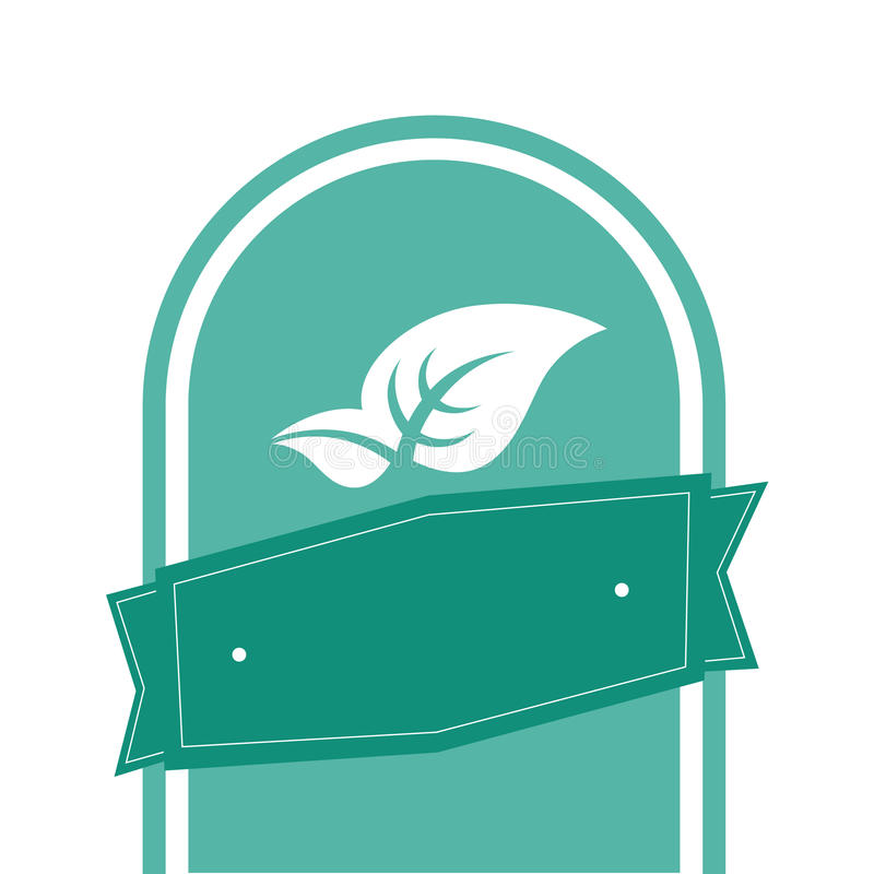 Vectorlintblad royalty-vrije stock afbeelding