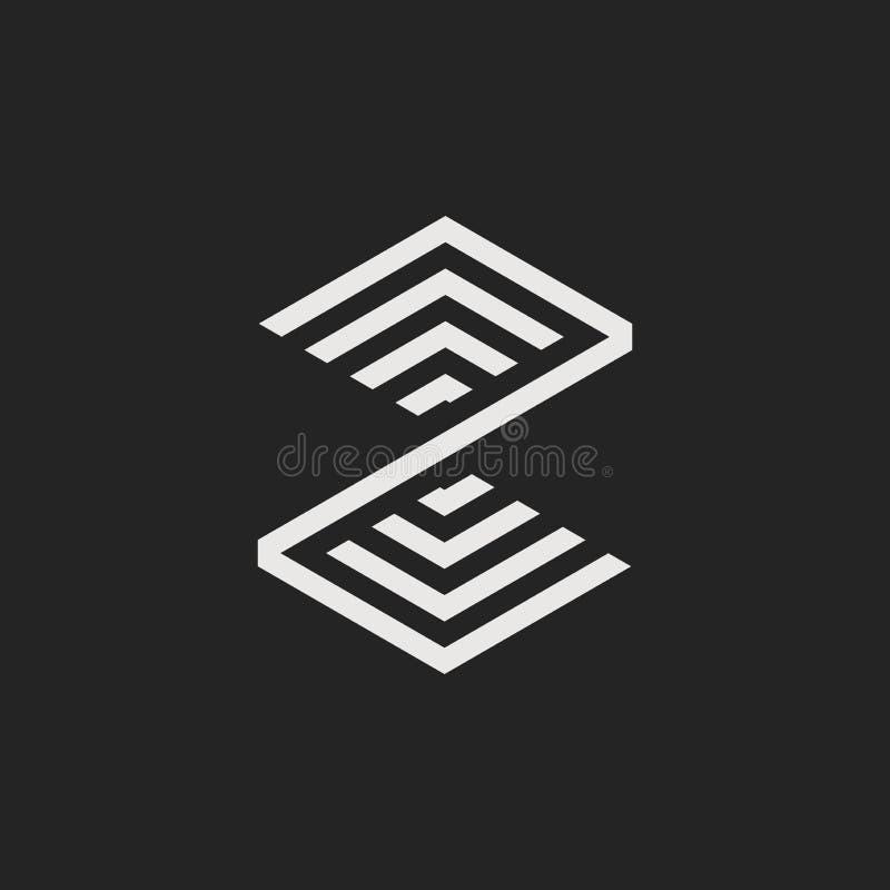 Vectorlogo letter Z stock illustratie