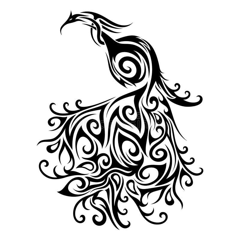 Vectorlogo peacock royalty-vrije illustratie