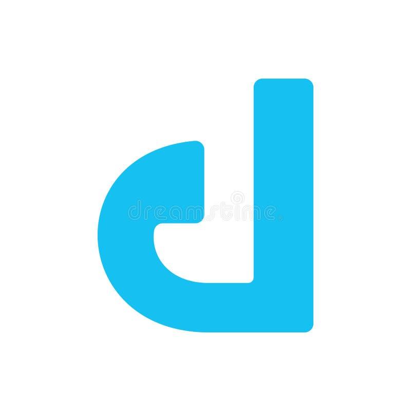 Vectorlogo simple del logotipo de la letra d, simple, d, símbolo, icono, extracto, letra, moderna, muestra, negocio, vector, dise stock de ilustración