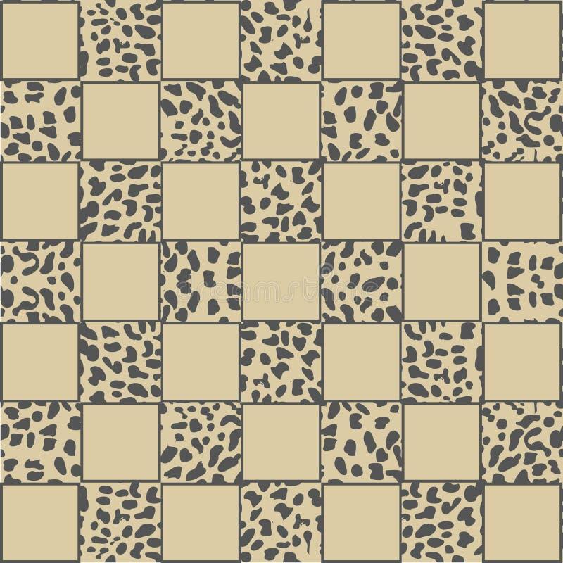Vectorluipaardachtergrond met poten vector illustratie