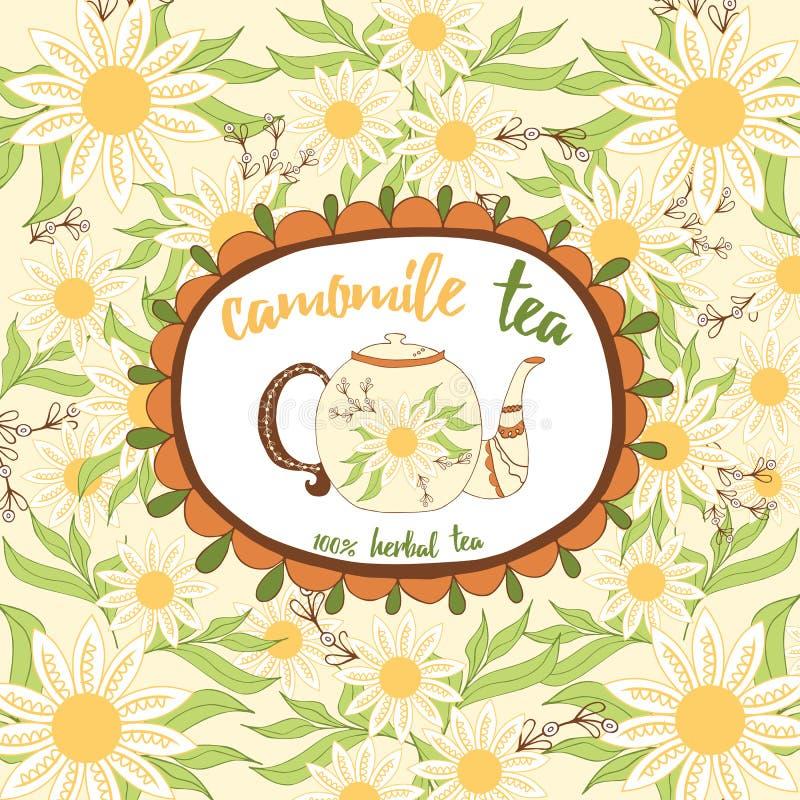 Vectormalplaatje verpakkende thee, etiket, banner, affiche, identiteit, het brandmerken vector illustratie