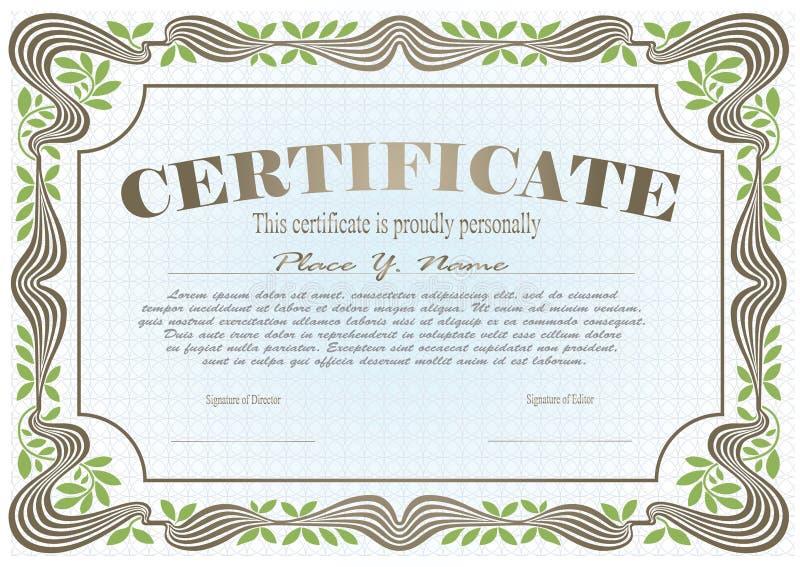Vectormalplaatje voor het ontwerp van certificaat, reclame, I royalty-vrije illustratie