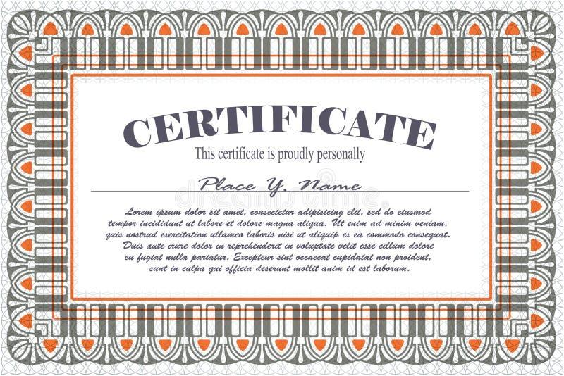 Vectormalplaatje voor het ontwerp van certificaat, reclame, I vector illustratie