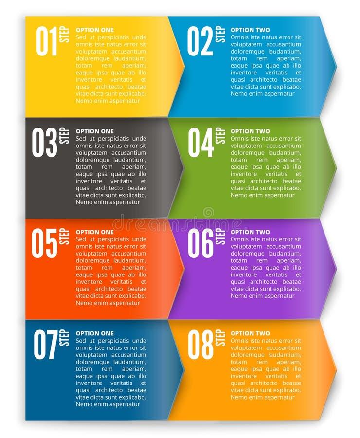 Vectormalplaatje voor interface of infographic royalty-vrije illustratie