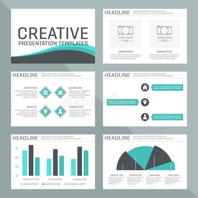 Vectormalplaatje voor multifunctionele presentatie royalty-vrije illustratie