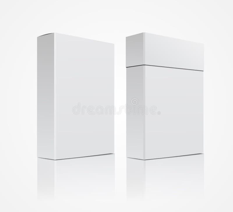 Vectormalplaatje witte doos op een witte achtergrond stock illustratie