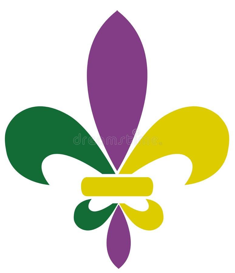 Download Vectormardi Gras Fleur De Lis Vector Illustratie - Illustratie bestaande uit embleem, ontwerp: 107705670