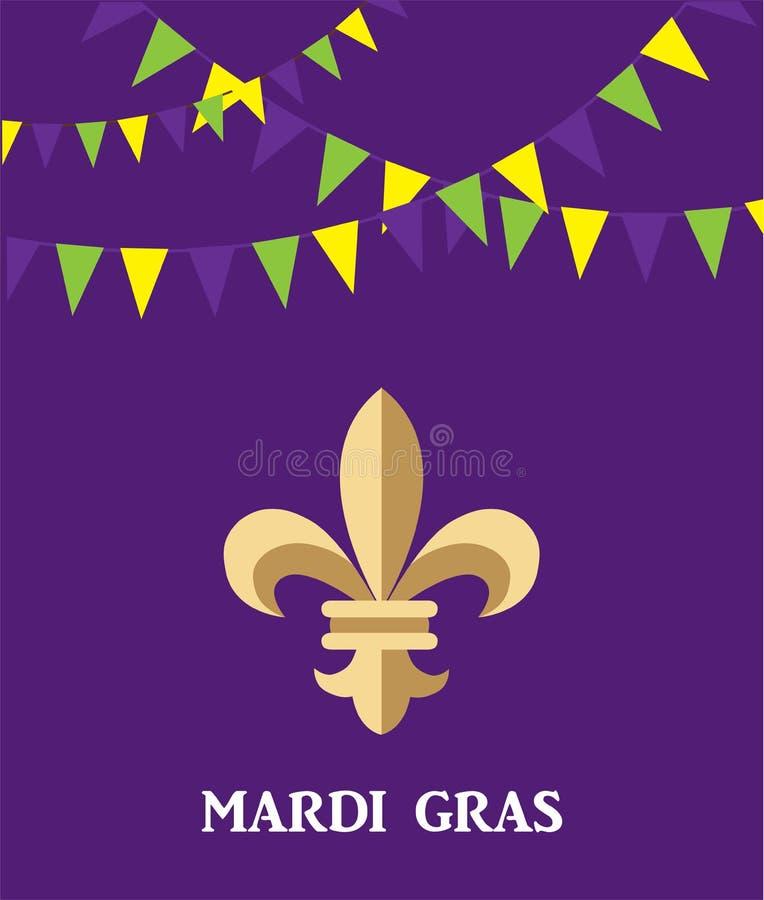 Download Vectormardi Gras Fleur De Lis And-Bunting Achtergrond Vector Illustratie - Illustratie bestaande uit orléans, teken: 107705694