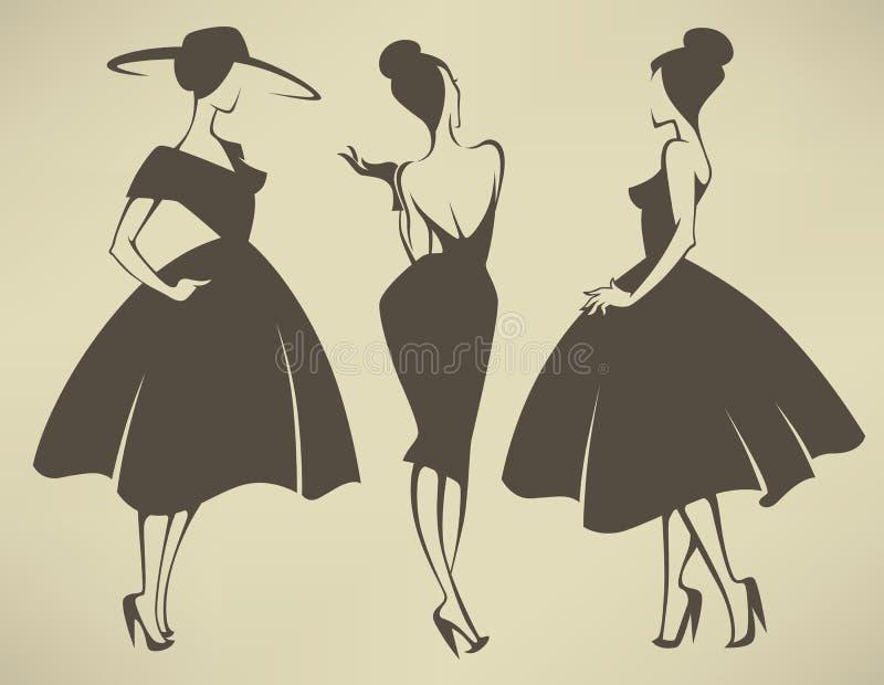 Download Vectormeisjesinzameling vector illustratie. Illustratie bestaande uit ontwerp - 54075844