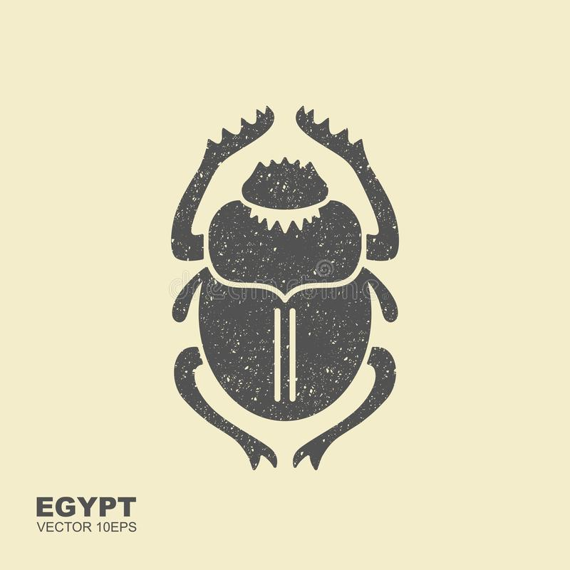 Vectormestkever Oud Egypte Vlak pictogram vector illustratie