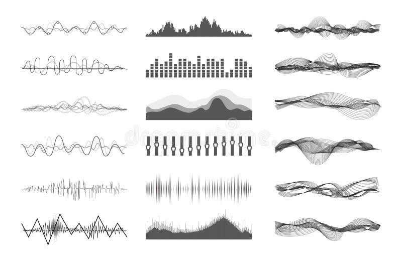 Vectormuziek correcte golven royalty-vrije illustratie