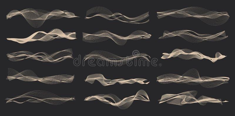 Vectormuziek correcte golven stock illustratie