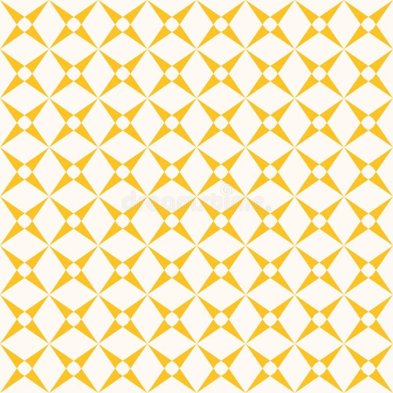 Vectornet naadloos patroon met de kruising van lijnen, net, netwerk Geel en wit herhaal ontwerp vector illustratie