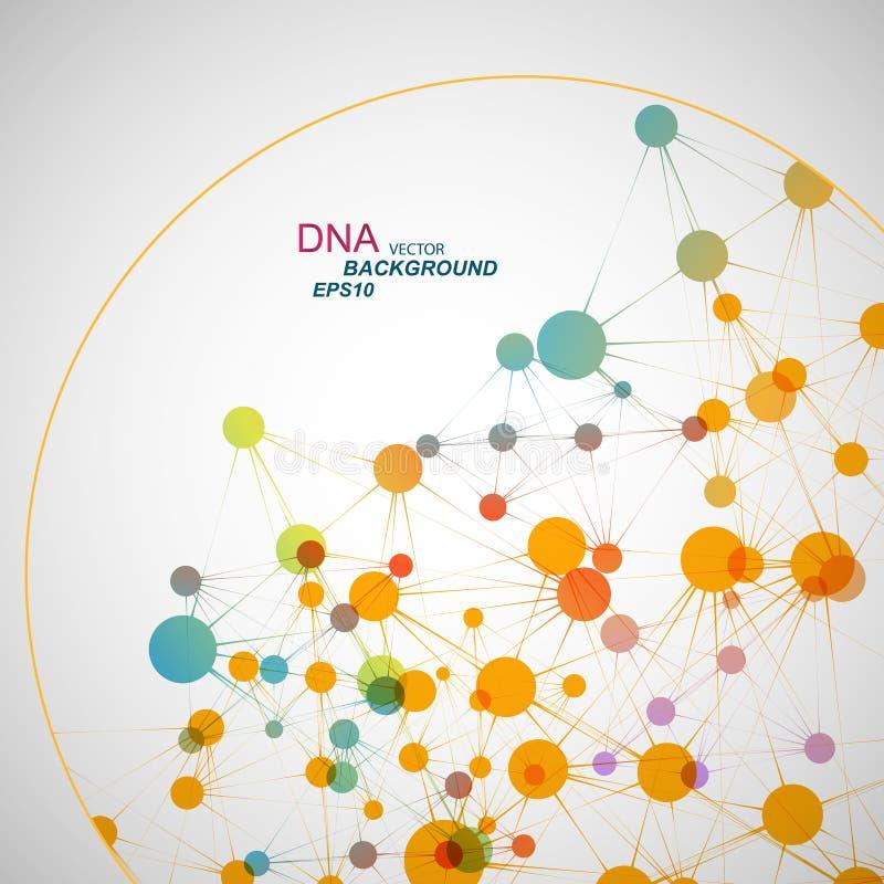 Vectornetwerkverbinding en DNA eps10 royalty-vrije stock afbeelding