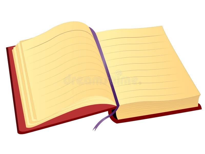 Vectornotitieboekje royalty-vrije illustratie