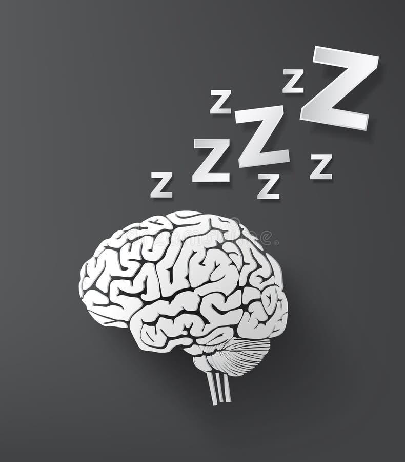 Free Vectorof Sleep Concept With Brain. Royalty Free Stock Photos - 45224758