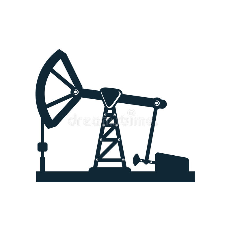 Vectorolieboortoren, pictogram van het pomp het vlakke pictogram stock illustratie
