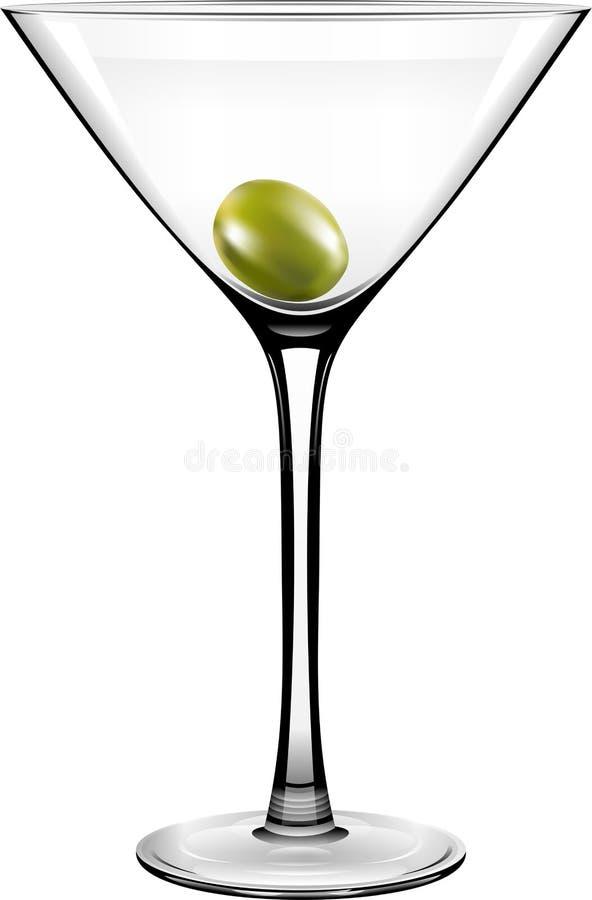 Vectorolive martini glass royalty-vrije illustratie