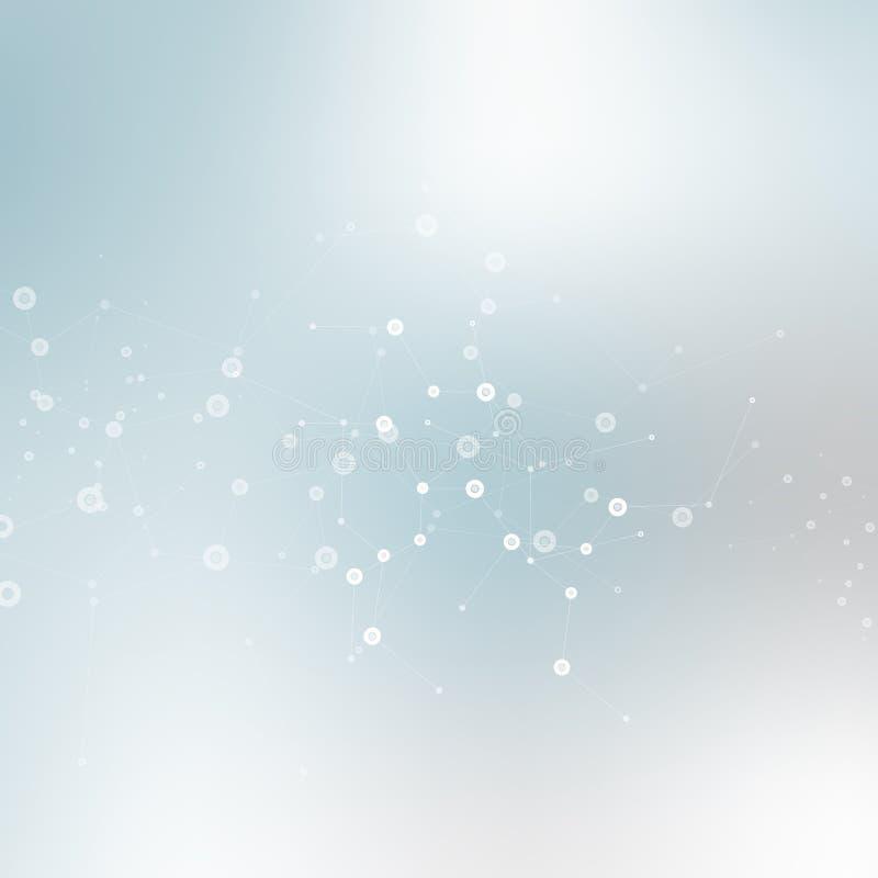 Vectoronduidelijk beeld als achtergrond met een moleculaire structuur vector illustratie
