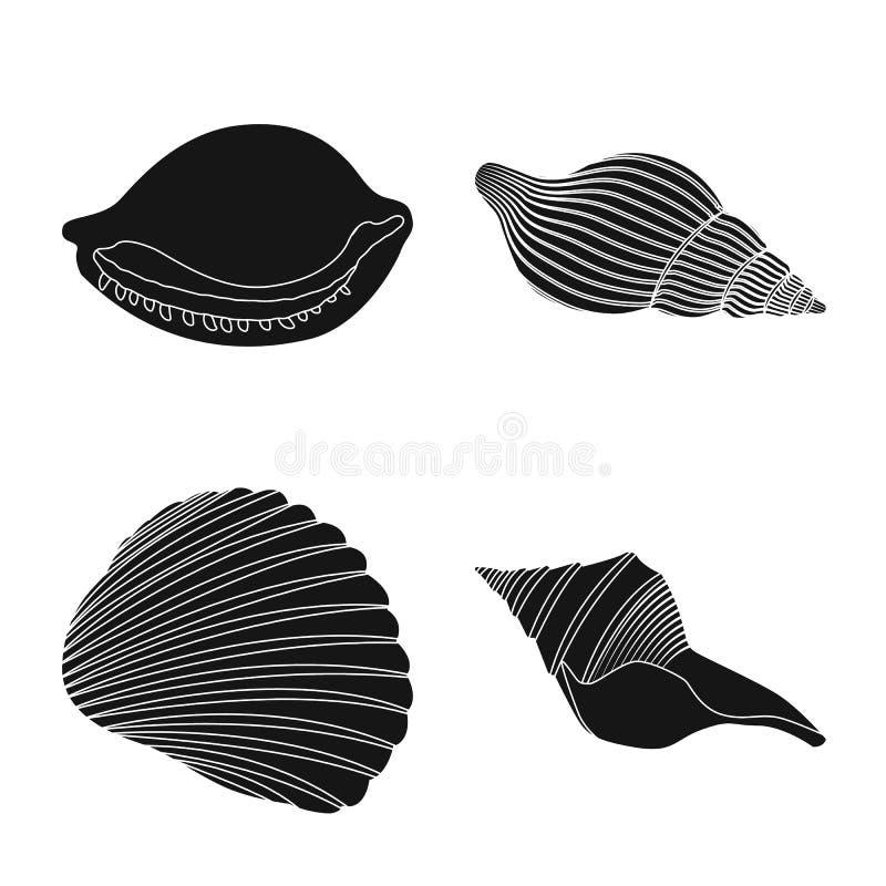 Vectorontwerp van aard en oceaanpictogram Reeks van aard en de vectorillustratie van de weekdiervoorraad stock illustratie