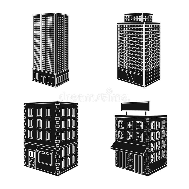 Vectorontwerp van architectuur en landgoedteken De reeks van architectuur en bouwt vectorpictogram voor voorraad stock illustratie