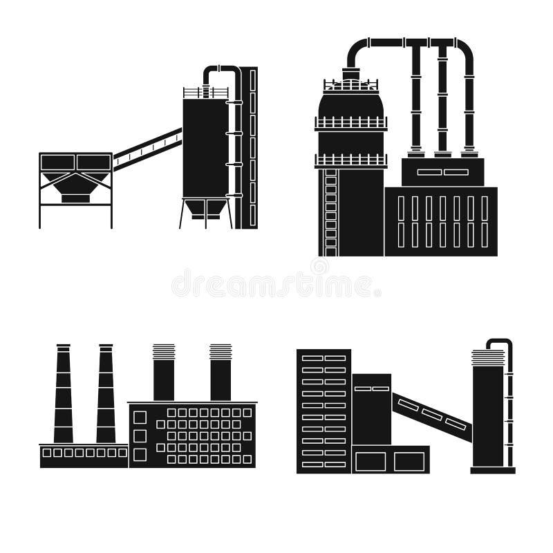 Vectorontwerp van architectuur en technologieembleem Reeks van architectuur en de bouwvoorraadsymbool voor Web vector illustratie