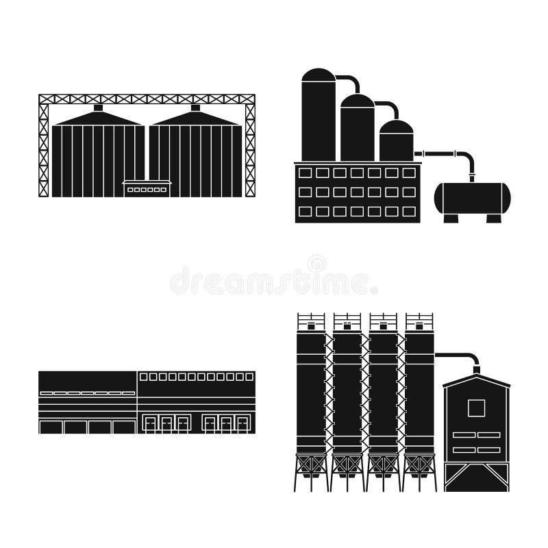 Vectorontwerp van architectuur en technologiepictogram Inzameling van architectuur en de bouwvoorraadsymbool voor Web vector illustratie