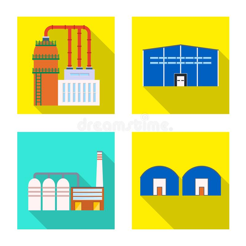 Vectorontwerp van architectuur en technologieteken Inzameling van architectuur en de bouwvoorraad vectorillustratie stock illustratie