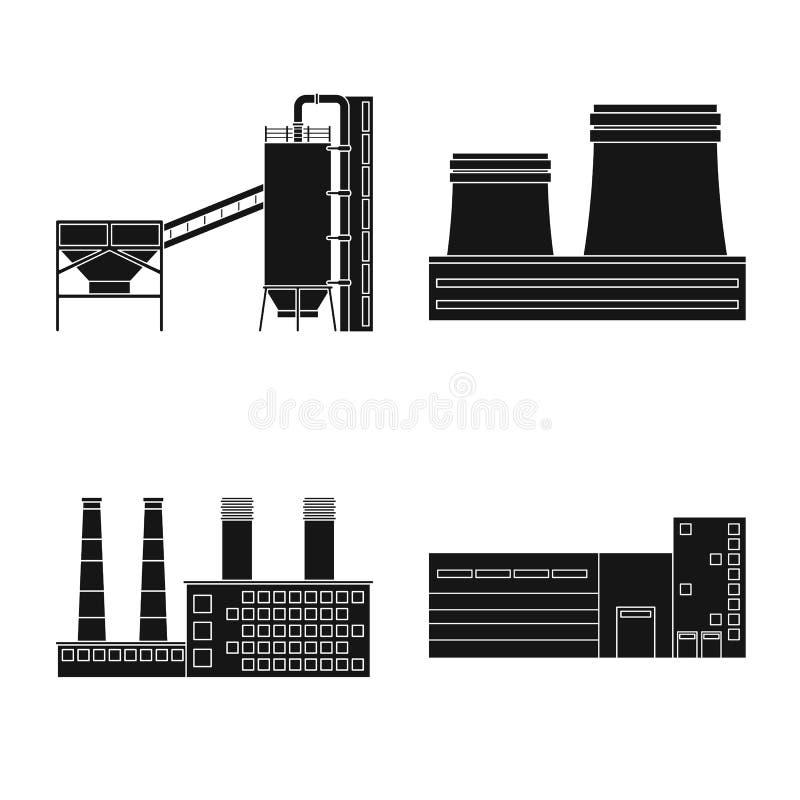 Vectorontwerp van architectuur en technologieteken Reeks van architectuur en de bouwvoorraad vectorillustratie stock illustratie