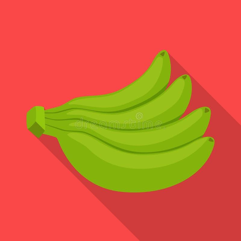 Vectorontwerp van banaan en bossymbool Inzameling van banaan en voedselvoorraad vectorillustratie royalty-vrije illustratie