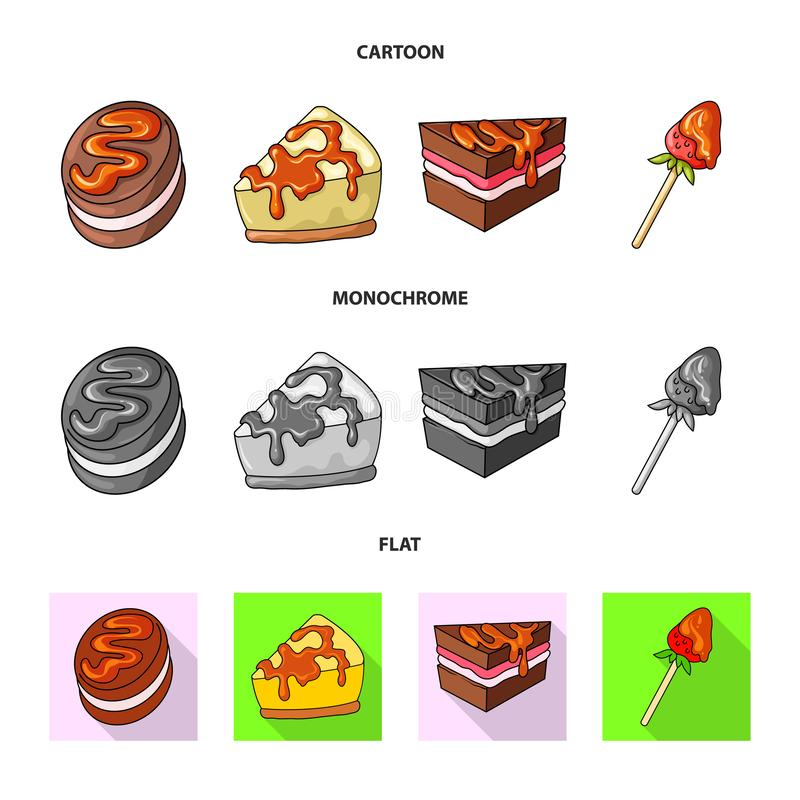 Vectorontwerp van banketbakkerij en culinair embleem Inzameling van banketbakkerij en product vectorpictogram voor voorraad stock illustratie