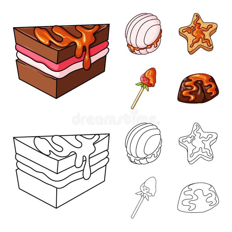 Vectorontwerp van banketbakkerij en culinair embleem Inzameling van banketbakkerij en productvoorraad vectorillustratie royalty-vrije illustratie