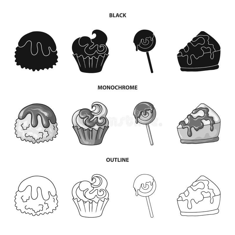 Vectorontwerp van banketbakkerij en culinair embleem Inzameling van banketbakkerij en productvoorraad vectorillustratie vector illustratie