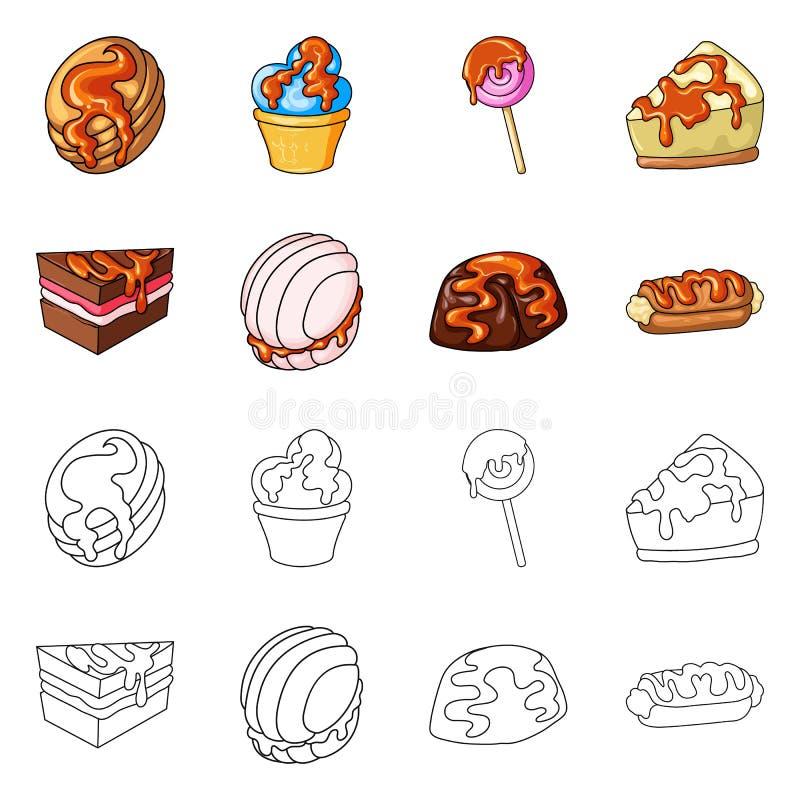 Vectorontwerp van banketbakkerij en culinair embleem Reeks van banketbakkerij en productvoorraadsymbool voor Web vector illustratie