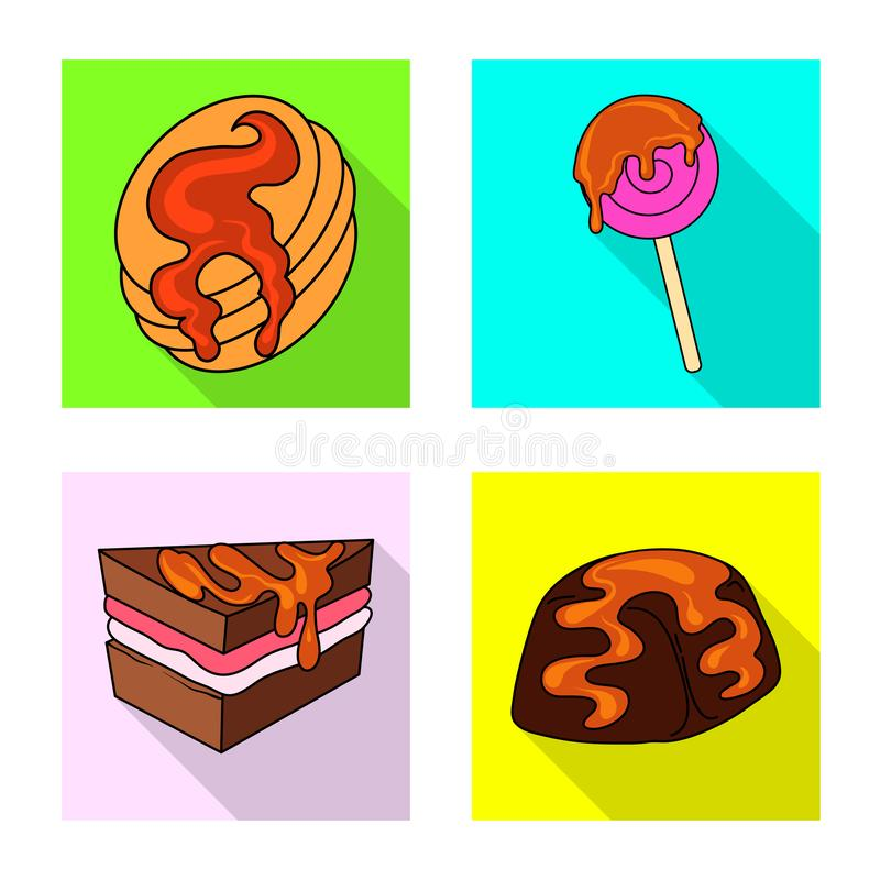 Vectorontwerp van banketbakkerij en culinair pictogram Inzameling van banketbakkerij en kleurrijke voorraad vectorillustratie vector illustratie