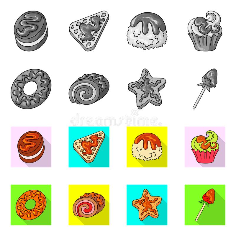 Vectorontwerp van banketbakkerij en culinair pictogram Reeks van banketbakkerij en product vectorpictogram voor voorraad royalty-vrije illustratie