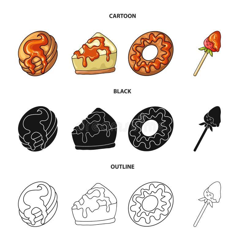 Vectorontwerp van banketbakkerij en culinair symbool Reeks van banketbakkerij en productvoorraadsymbool voor Web vector illustratie