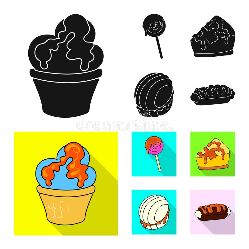 Vectorontwerp van banketbakkerij en culinair teken Inzameling van banketbakkerij en productvoorraadsymbool voor Web stock illustratie