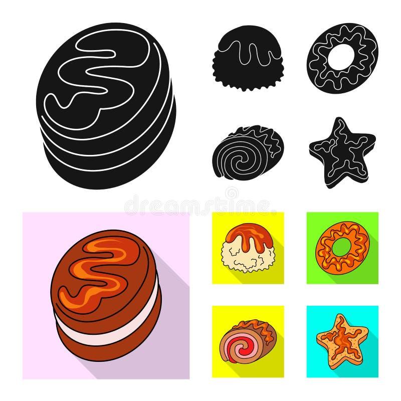 Vectorontwerp van banketbakkerij en culinair teken Reeks van banketbakkerij en product vectorpictogram voor voorraad stock illustratie