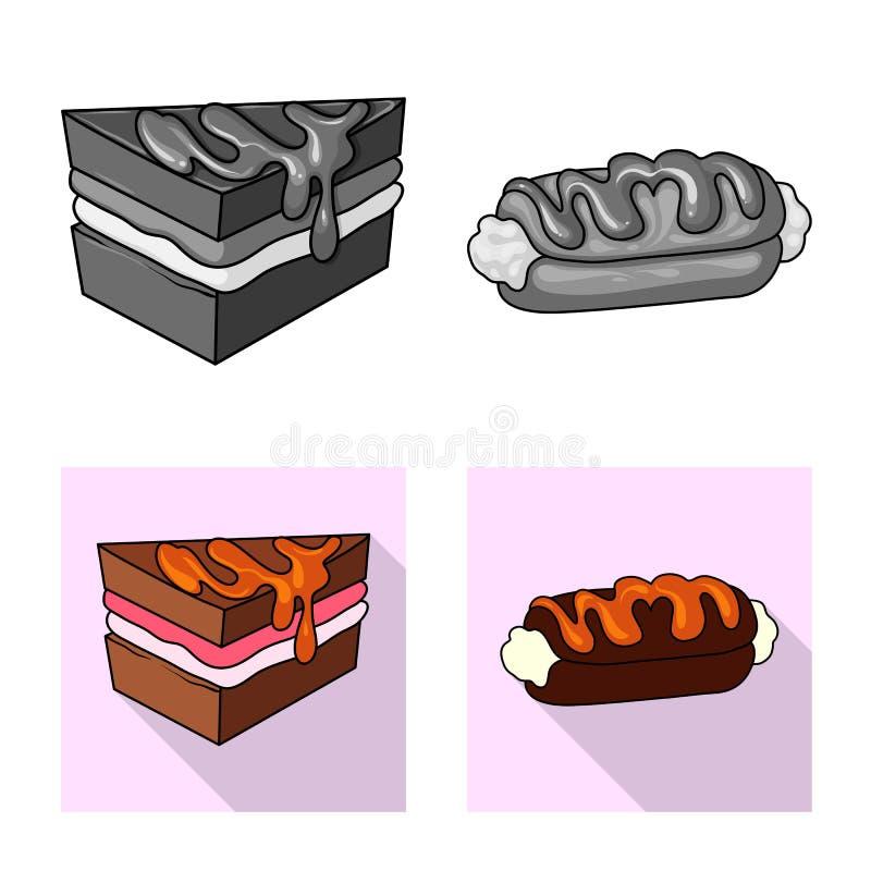 Vectorontwerp van banketbakkerij en culinair teken Reeks van banketbakkerij en product vectorpictogram voor voorraad royalty-vrije illustratie