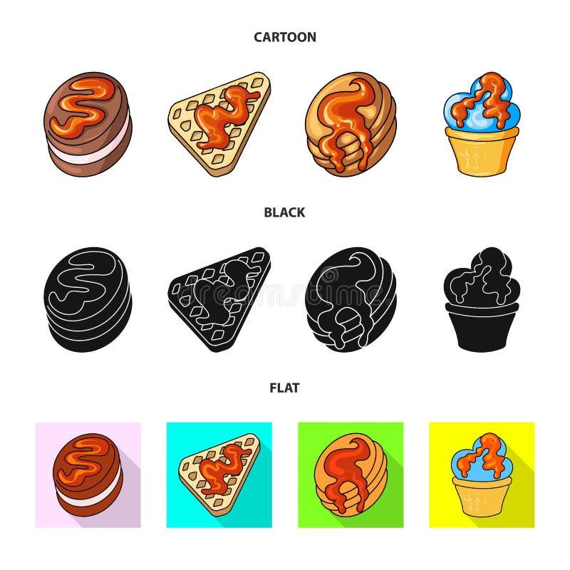 Vectorontwerp van banketbakkerij en culinair teken Reeks van banketbakkerij en productvoorraad vectorillustratie royalty-vrije illustratie