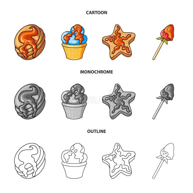 Vectorontwerp van banketbakkerij en culinair teken Reeks van banketbakkerij en productvoorraad vectorillustratie stock illustratie