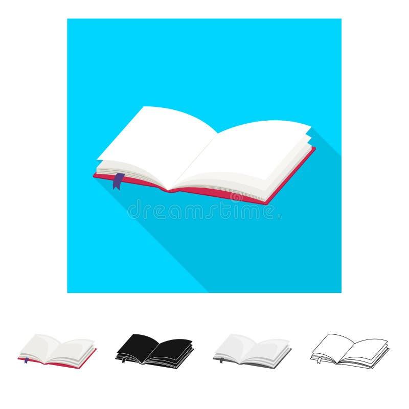 Vectorontwerp van boek en open pictogram Reeks van boek en referentievoorraad vectorillustratie royalty-vrije illustratie