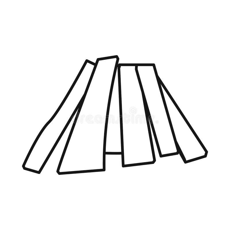 Vectorontwerp van brandhout en boomembleem Reeks van brandhout en houten voorraad vectorillustratie vector illustratie