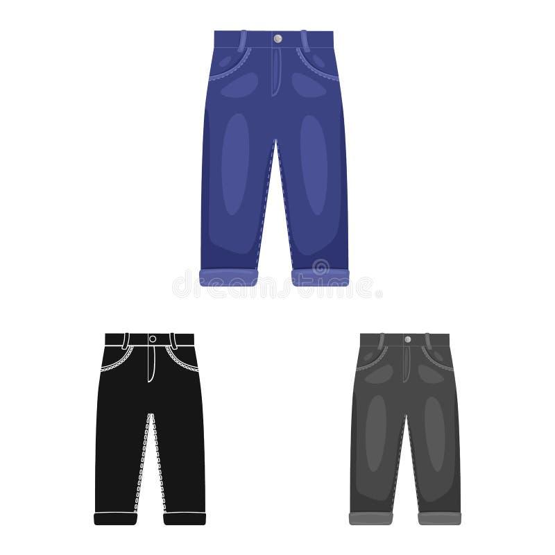 Vectorontwerp van broek en jongenspictogram Reeks van broek en stijl vectorpictogram voor voorraad royalty-vrije illustratie