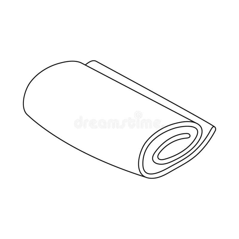 Vectorontwerp van broodje en opgestapeld teken Inzameling van broodje en douchevoorraadsymbool voor Web royalty-vrije illustratie