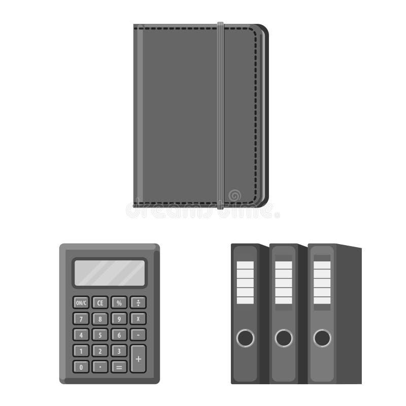 Vectorontwerp van bureau en leveringspictogram Reeks van bureau en schoolvoorraad vectorillustratie royalty-vrije illustratie